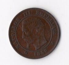 QUALITE MONNAIE DE 2 CENTIMES NAPOLEON III BRONZE DE 1856 K ( BORDEAUX ) RARE