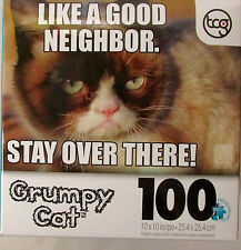 Grumpy Cat 100 pc Puzzle 27162-2 Like A Good Neighbor...Stay Over There