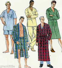 BRAND NEW! Plus Size 46-56 Men's Pajamas & Robe Sewing Pattern McCall's 6231