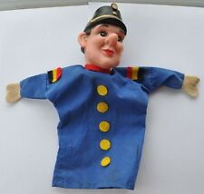 1950s Germany German POLICEMAN Vintage Scarce RUBBER HEAD DOLL TOY FOR THEATER