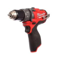 "New Milwaukee M12 12 Volt Fuel 1/2"" Hammer Drill Driver Model # 2404-20"