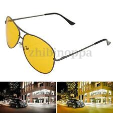 Safety Night Vision Driving HD High Definition Glasses UV Sunglasses Yellow lens