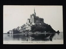 Carte postale ancienne Le Mont Saint-Michel (Manche) Côté Nord du Nord-Est