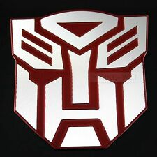Red Transformers Autobot Logo Emblem Badge Decal Car Sticker New