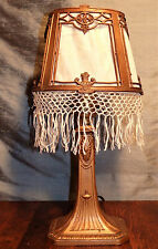 Antique 1922 Louis V Aronson Signed ART DECO LAMP Egyptian Revival with Shade!