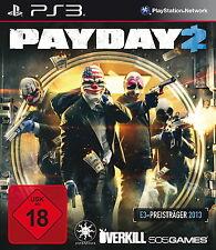 Payday 2 (Sony PlayStation 3, 2013, DVD-Box). Neuwertig