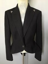 Women's Ralph Lauren Blazer Black Fishtail Size 6 U.K. 8-10 IT03945310963 Wool