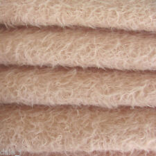 """1/6 yard INTERCAL Soft Pink 1/2"""" Ultra-Sparse Curly Matted Mohair Bear Fabric"""