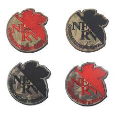 4PCS EVA Evangelion NERV Morale Military Tactics 3D PVC Patch Badges