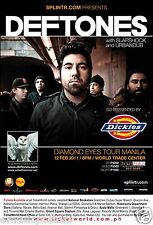 "Deftones ""Diamond Eyes Tour Manila"" 2011 Philippines Concert Poster - Alt Metal"
