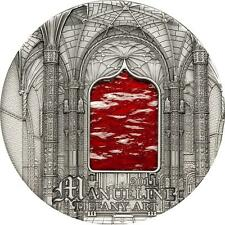 Palau 2011 10$ Tiffany Art Manueline 2oz Silver coin Antique Finish