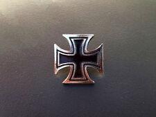 Maltese Cross Motorcycle Badge Pin Vest Harley Kawasaki Yamaha Suzuki Chopper