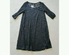 SEXY ATMOSPHERE BLACK ALL OVER LACE CAP SLEEVE SKATER SHORT TUNIC DRESS SIZE 10