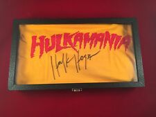 Hulk Hogan Autographed Yellow Hulkamania T Shirt COA Certified In Display Case