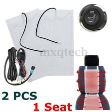 12V Car Carbon Fiber Universal Heated Seat Heater Cushion Warmer W/ Round Switch