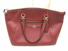 �� COACH ~ Black Cherry Red ~ Leather ~ Prairie Satchel Bag / Purse BEAUTIFUL ��