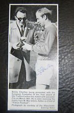 BOBBY CHARLTON MANCHESTER UNITED 1966  SIGNED PICTURE