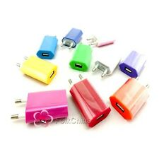 EU Plug AC to USB Power Colourful  Adapter Charger For Apple iPhone 4 4S 4G