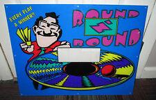 ROUND N' ROUND REDEMPTION GAME CABINET HEAD PLEXIGLASS BEZEL / MARQUEE, GUC