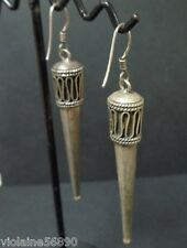 PAIRE BOUCLE D'OREILLE ARGENT 925 INDE RAJASTHAN ASIE SILVER EARRINGS INDIA ASIA