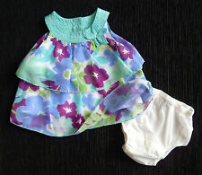 "Baby clothes GIRL 3-6m Koala Baby designer ""non-iron"" layered dress+GAP knickers"