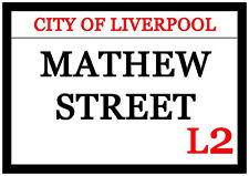 Huge Mathew Street Fridge Magnet 30cm x 21cm City Of Liverpool L2
