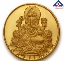 P.N.Gadgil BIS Hallmarked 2 gms, 24k (995) , Ganesha Om Gold Coin