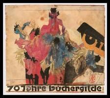 Horst Janssen 70 Jahre Büchergilde Poster Bild Kunstdruck im Alu Rahmen 50x70cm