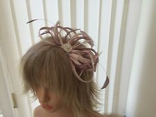 PALE BLUSH NUDE PINK/ DUSKY PINK SINAMAY   FASCINATOR,ASCOT,ACCESSORIES,