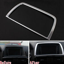 Interior Accessories Centre Console GPS Audio Frame Cover Trim For CX-5 12-2015