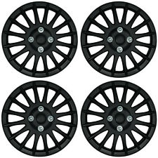 "Black 15 Inch 15"" Hub Cap Wheel Trims for Fiat Grande Punto 199 05 to 11 UX62"