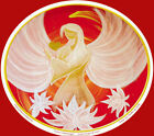 Angel Art Window Sticker: Lotus Angel of Love