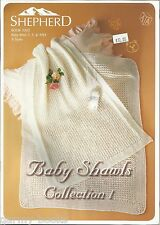 Baby Shawls Collection #1 Knitting Patterns Afghans Blankets Shepherd Book NEW