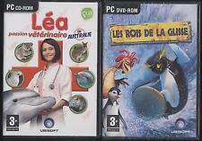 NEUF LOT 2 JEUX PC LEA VETERINAIRE + LES ROIS DE LA GLISSE JEU EN FRANCAIS