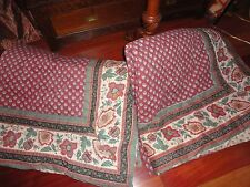 JCP PENNEY MARTEX AVIGNON CLAY FLORAL BLACK PURPLE RED GREEN (2) TWIN COMFORTERS