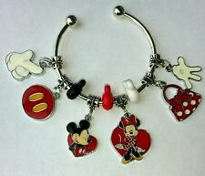 **ON SALE**Set of 9 Authentic Disney Mickey  Mouse  charm for European Bracelets
