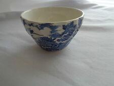 "Transferware Myott ""The Hunter"" Blue Sugar Bowl"
