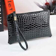 Women Handbag Ladies Crocodile Leather Clutch Handbag Shoulder Bag Coin Purse BK