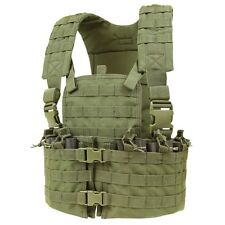 Condor CS OD GREEN Modular MOLLE PALS Chest Rig w/ Magazine & Hydration Pouch