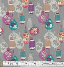 PATCHWORK/ CRAFT FABRIC FAT QTR LEWIS & IRENE MIN SHAN DESIGN CHINESE LANTERNS