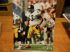 DERMONTTI DAWSON SIGNED PITTSBURGH STEELERS 8X10 2012 HALL OF FAME