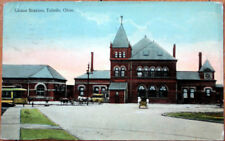 1914 Postcard: Union Train Station/Railroad Depot - Toledo, Ohio OH
