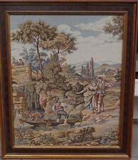 grosses Gobelin-Stickbild, gerahmt, RG 78x66 cm (237/13070)