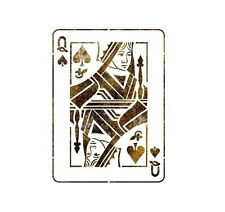 "STENCIL WALL STENCILS PATTERN 12.99""x9.05"" Airbrush TEMPLATE LARGE Queen poker"