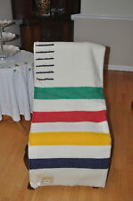 HUDSON  BAY  BLANKET/NEW 6 POINT MULTI STRIPE QUEEN SIZE