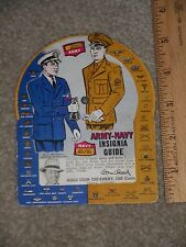 VINTAGE WWII GOLD COIN CREAMERY DENVER CO ARMY NAVY INSIGNIA GUIDE MOVING WHEEL