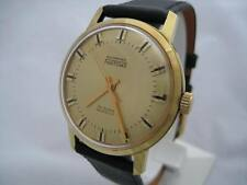 NOS NEW SWISS MADE GOLD PL AUTOMATIC MEN'S FANTOME WATCH 1960'S