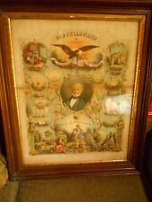 Odd Fellows Fellowship IOOF lithograph print original Vintage 1877