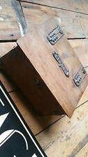 VINTAGE ART NOUVEAU arts and crafts copper detail cigar humidoor casket box