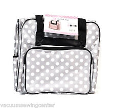 Hemline Dotty Gray Polka Dots Serger Overlock Tote Bag